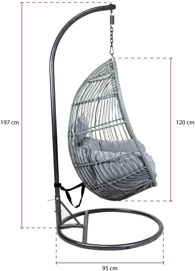 Egg Shaped Rattan Swing Chair - Total Competitions